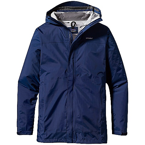 Free Shipping. Patagonia Men's Torrentshell Parka DECENT FEATURES of the Patagonia Men's Torrentshell Parka 2.5-Layer Nylon Ripstop Shell with a Waterproof/Breathable H2No Barrier and Deluge DWR Finish 2-Way-Adjustable Hood with Laminated Visor Rolls Down and Stows Micro Fleece-Lined Neck Provides Comfort and Protects Waterproof/Breathable Barrier 2-Way Center-Front Zipper Has Exterior and Interior Storm Flaps To Keep Water Out Pit Zips Have Storm Flaps and Deluge DWR-Treated Zippers Self-Fabric Hook-And-Loop Cuff Closures Draw Cord Hem Packs Into Zippered Interior Self-Storage Chest Pocket Pockets: Two External Handwarmers (One Serves As a Stuffsack) and An Internal Mesh Drop-In The SPECS Regular fit Weight: 13.5 oz / 382 g 2.5-Layer, 2.6 oz 100% Nylon Ripstop with a Waterproof/Breathable H2No Barrier and a Deluge DWR (Durable Water Repellent) Finish This product can only be shipped within the United States. Please don't hate us. - $149.00