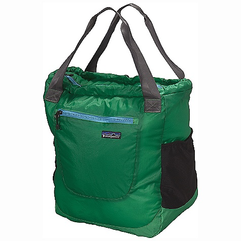 Entertainment Free Shipping. Patagonia Lightweight Travel Tote DECENT FEATURES of the Patagonia Lightweight Travel Tote Extremely lightweight double-ripstop fabric features excellent tear resistance Zippered main compartment provides easy access Zippered exterior pocket with key clip Mesh side pockets carry water bottles, snacks or an umbrella Breathable shoulder straps stow when not in use lightweight foam cushions the back Stuffs into its own pocket Internal webbing loop allows for easy merchandising on shop peg hooks The SPECS Weight: 10.1 oz / 286 g Volume: 1587 cubic inches / 26 liter Body: 1.8-oz 40-denier 100% nylon double-ripstop with a polyurethane coating and silicone finish Base: 6.3-oz 210-denier 100% nylon double-ripstop with a polyurethane coating This product can only be shipped within the United States. Please don't hate us. - $69.00