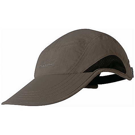 Patagonia Vented Longbill Cap DECENT FEATURES of the Patagonia Vented Longbill Cap Extended front bill with dark underside reduces glare Mesh side panels for breathability and all-day comfort The SPECS Adjustable fit Weight: 2.7 oz / 77 g 4.2-oz 100% Supplex nylon with a DWR (durable water repellent) finish and 50+ UPF sun protection This product can only be shipped within the United States. Please don't hate us. - $25.00