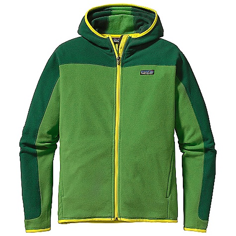 Free Shipping. Patagonia Men's Araveto Hooded Jacket DECENT FEATURES of the Patagonia Men's Araveto Hooded Jacket Soft, brushed polyester fleece Built-in hood for warmth Two on-seam handwarmer pockets Micro polyester jersey trim on cuffs, hem and hood opening Hip length The SPECS Regular fit Weight: 15 oz / 425 g 5.9-oz 100% polyester double-sided microfleece This product can only be shipped within the United States. Please don't hate us. - $119.00
