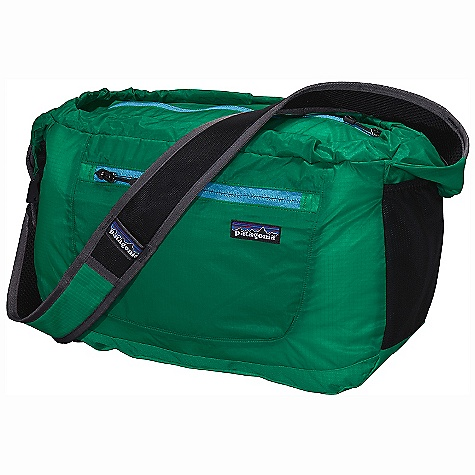 Entertainment Free Shipping. Patagonia Lightweight Travel Courier DECENT FEATURES of the Patagonia Lightweight Travel Courier Extremely lightweight double-ripstop fabric provides excellent tear resistance Main compartment accessed through top by zippered closure Ergonomic shoulder strap for comfort Zippered exterior security pocket with key clip Breathable shoulder strap is ultralight, quick-drying and adjustable Stuffs into its own pocket Internal webbing loop allows for easy merchandising on shop peg hooks The SPECS Weight: 7.3 oz / 207 g Volume: 1037 cubic inches / 17 liter Body: 1.8-oz 40-denier 100% nylon double-ripstop with a polyurethane coating and silicone finish Base: 6.3-oz 210-denier 100% nylon double-ripstop with a polyurethane coating This product can only be shipped within the United States. Please don't hate us. - $59.00