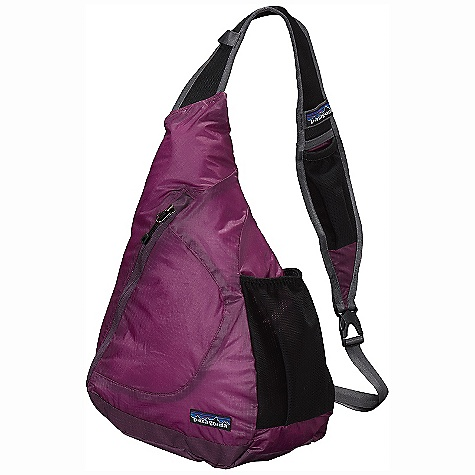 Entertainment Patagonia Lightweight Travel Sling DECENT FEATURES of the Patagonia Lightweight Travel Sling Extremely lightweight double-ripstop fabric provides excellent tear resistance Zippered main compartment has internal pocket for organization and a key clip Side-mounted mesh water-bottle pocket Breathable, three-point adjustable mesh shoulder strap with electronics pocket waistbelt tucks into sleeve Bag stuffs into its own pocket The SPECS Weight: 5.8 oz / 164 g Volume: 407 cubic inches / 7 liter Body: 1.8-oz 40-denier 100% nylon double-ripstop with a polyurethane coating and silicone finish Base: 6.3-oz 210-denier 100% nylon double-ripstop with a polyurethane coating This product can only be shipped within the United States. Please don't hate us. - $49.00