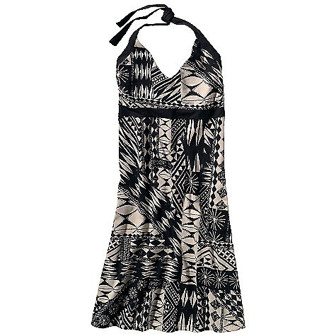Entertainment Free Shipping. Patagonia Women's Iliana Halter Dress DECENT FEATURES of the Patagonia Women's Iliana Halter Dress Organic stretch cotton has a flattering drape Scoop-neck styling Adjustable ties at neck Built-in shelf bra for support Supportive underbust inset and ties in contrast colors (except black) A-line silhouette The SPECS Slim fit, Above knee Weight: 8.4 oz / 238 g 6.2-oz 95% organic cotton, 5% spandex This product can only be shipped within the United States. Please don't hate us. - $65.00