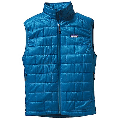 Free Shipping. Patagonia Men's Nano Puff Vest DECENT FEATURES of the Patagonia Men's Nano Puff Vest Lightweight ripstop recycled polyester shell fabric has a Deluge DWR finish Lightweight 60-g Prim aloft One insulation provides excellent warmth and compressibility Brick quilting pattern with horizontal quilt lines on side panels uses durable thread for improved abrasion-resistance Center-front zipper has wicking interior storm flap and zipper garage at chin for next-to-skin comfort Two high hand pockets have clean finished zipper garages zippered internal chest pocket doubles as a self-stuff sack with a reinforced carabineer clip-in loop Draw cord-adjustable drop r hem seals out wind The SPECS Regular fit Weight: 8.5 oz / 241 g Shell and Lining: 1.4-oz 22-denier 100% recycled polyester with a Deluge DWR (durable water repellent) finish Insulation: 60-g PrimaLoft One 100% polyester This product can only be shipped within the United States. Please don't hate us. - $149.00