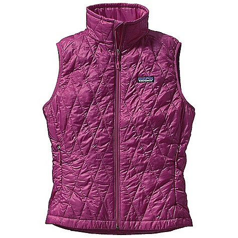 Free Shipping. Patagonia Women's Nano Puff Vest DECENT FEATURES of the Patagonia Women's Nano Puff Vest Ultra light ripstop recycled polyester Lightweight 60-g PrimaLoft One insulation provides excellent warmth and compressibility Two zippered hand warmer pockets Stuffs into a zippered internal chest pocket with a reinforced carabineer clip-in loop Draw cord hem seals out wind The SPECS Regular fit Weight: 7.5 oz / 212 g Shell and Lining: 1-oz 15-denier 100% recycled polyester with a Deluge DWR (durable water repellent) finish Insulation: 60-g PrimaLoft One 100% polyester (70% recycled) This product can only be shipped within the United States. Please don't hate us. - $149.00
