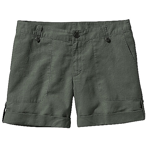 Free Shipping. Patagonia Women's Island Hemp Shorts DECENT FEATURES of the Patagonia Women's Island Hemp Shorts Hemp, cotton blend is soft and has a linen-like drape Zip fly with coconut-button closure Two patch pockets on the front and back Roll-up cuff detail The SPECS Regular fit, Low rise 4-oz 55% hemp, 45% organic cotton plain weave Inseam: 5in. Weight: 5.5 oz / 155 g This product can only be shipped within the United States. Please don't hate us. - $59.00