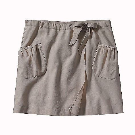 On Sale. Patagonia Women's Island Hemp Skirt DECENT FEATURES of the Patagonia Women's Island Hemp Skirt Hemp/cotton blend is soft with a linen-like drape Adjustable drawstring waistband Wrap styling lends a feminine flair Two pockets with shirred detail Regular fit The SPECS Weight: 161 g / 5.7 oz Length: 18in. Fabric: 4-oz 55% hemp/45% organic cotton plain weave Recyclable through the Common Threads Recycling Program This product can only be shipped within the United States. Please don't hate us. - $16.99