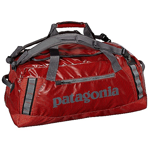 Entertainment Free Shipping. Patagonia Black Hole 60L Duffel DECENT FEATURES of the Patagonia Black Hole 60L Duffel Waterproof fabric with bound seams help protect your gear in wet conditions Carry with handle or haul handles; four corner-mounted webbing daisy chains facilitate hauling and tying down big loads U-shaped lid provides easy access to the main compartment zippered exterior pocket two zippered internal mesh pockets Bottom padded with foam to protect contents The SPECS Weight: 34 oz / 964 g Volume: 3661 cubic inches / 60 liter 14.7-oz 1,200-denier polyester (50% solution-dyed) with a TPU film laminate and a DWR (durable water repellent) finish This product can only be shipped within the United States. Please don't hate us. - $119.00