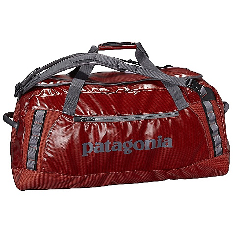 Entertainment Free Shipping. Patagonia Black Hole 90L Duffel DECENT FEATURES of the Patagonia Black Hole 90L Duffel Waterproof fabric with bound seams help protect your gear in wet conditions Carry with handle or haul handles four corner-mounted webbing daisy chains facilitate hauling and tying down big loads U-shaped lid provides easy access to the main compartment zippered exterior pocket two zippered internal mesh pockets Bottom padded with foam to protect contents The SPECS Weight: 42 oz / 1191 g Volume: 5492 cubic inches / 90 liter 14.7-oz 1,200-denier polyester (50% solution-dyed) with a TPU film laminate and a DWR (durable water repellent) finish This product can only be shipped within the United States. Please don't hate us. - $139.00