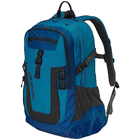 Entertainment On Sale. Free Shipping. Patagonia Fuego Pack DECENT FEATURES of the Patagonia Fuego Pack Generous main compartment with dump pockets for quick organization on the go internal organization has plenty of options for electronics and supplies, along with a secure clip for keys interior padded sleeve is raised off the ground to protect most 17in. laptops from impact sleeve secures with a buckle closure and doubles as a hydration bladder holder complete with tube port Exterior zippered secure pocket for quick access to essentials large stuff pocket for bulky items exterior lash points Micro fleece-lined pocket for sunglasses and electronics stretch-woven pockets accommodate a wide range of water bottle shapes and sizes Airflow-mesh shoulder straps and back panel adjustable sternum strap with emergency whistle Top-mounted, reinforced haul handle The SPECS Weight: 30.6 oz / 867 g Volume: 1953 cubic inches / 32 liter Body: 420-denier 100% nylon oxford plain weave Base: 840-denier 100% ballistics nylon Lining: 200-denier 100% polyester Stretch-woven pockets: 92% nylon/8% spandex All treated with a Deluge DWR (durable water repellent) finish This product can only be shipped within the United States. Please don't hate us. - $65.99