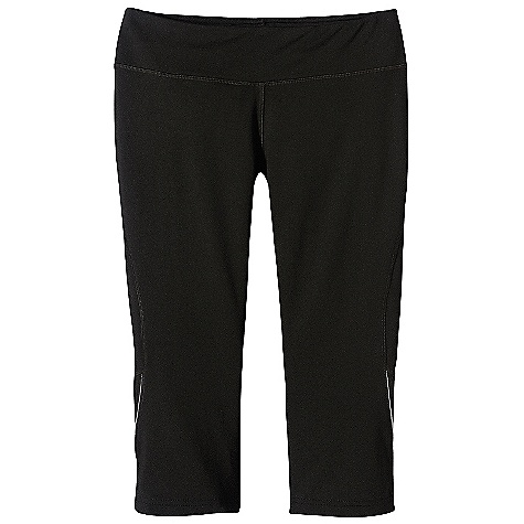 Free Shipping. Patagonia Women's Speedwork Capri DECENT FEATURES of the Patagonia Women's Speedwork Capri Wind-resistant nylon/spandex with soft, moisture-wicking polyester interior Tailored waistband with internal draw cord lies flat against stomach Internal key pocket at hip Flattering back-to-front seaming protects skin against chafing Breathable polyester mesh panel behind knee dries quickly Reflective tape on side of leg; reflective logo on right rear hip The SPECS Formfitting Inseam: 17in. Body: 6.6-oz 63% nylon/23% polyester/14% spandex double knit Panels: 3.1-oz 100% polyester (30% recycled) mesh This product can only be shipped within the United States. Please don't hate us. - $69.00