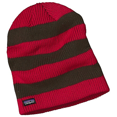 Entertainment On Sale. Patagonia Kid's Sloucher Beanie DECENT FEATURES of the Patagonia Kids' Sloucher Beanie Soft nylon/wool blend is warm and won't lose shape or shrink Rib-knit for extra stretch Easy to wear options: Slouched behind or fold up hem for extra warmth The SPECS Regular fit Weight: 3.4 oz / 96 g 55% nylon, 45% wool This product can only be shipped within the United States. Please don't hate us. - $14.99