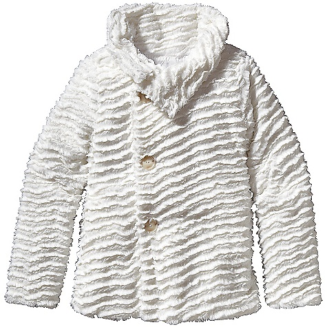On Sale. Free Shipping. Patagonia Girl's Pelage Jacket DECENT FEATURES of the Patagonia Girls' Pelage Jacket Soft curly high-pile fleece High fleece-lined collar provides extra warmth Asymmetrical button closure Two handwarmer pockets Additional and internal button beneath collar provides secure fit Hand-me-down ID label The SPECS 11.2-oz 100% polyester, curly, deep-pile fleece Lining: 2.3-oz 100% polyester plain Weight: 21.6 oz / 612 g This product can only be shipped within the United States. Please don't hate us. - $58.99