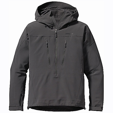 Climbing On Sale. Free Shipping. Patagonia Men's Knifeblade Pullover DECENT FEATURES of the Patagonia Men's Knifeblade Pullover Polar Tec Power Shield Pro fabric with a tricot backing combines lightweight weather resistance and incredible breathability Pullover silhouette trims weight and bulk for use with a climbing harness or pack waist belt Helmet-compatible, 2-way-adjustable hood with laminated visor for optimal visibility in bad conditions Touch Point System has embedded cord locks in hood and hem for quick adjustments to seal out weather Modified Y-Joint sleeve construction allows overhead mobility without lifting the jacket Two Napolean chest pockets have reverse-coil zippers with DWR (durable water repellent) finish Low-profile, self-fabric hook-and-loop-closure cuffs with pleated gusset The SPECS Slim fit Weight: 17 oz / 482 g 5.9-oz, Polartec Power Shield Pro 94% polyester 6% spandex bonded to a tricot back This product can only be shipped within the United States. Please don't hate us. - $208.99