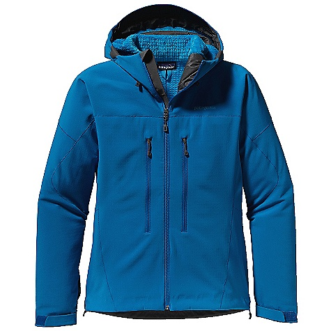 On Sale. Free Shipping. Patagonia Men's Northwall Jacket DECENT FEATURES of the Patagonia Men's Northwall Jacket Polartec Power Shield Pro with a Regulator High-Loft Grid Fleece Interior Provides Excellent Water-Resistant Protection and Incredible Breath Ability Sonic-Welded Seam Construction with Reinforced Stitch (Patent Pending) Reduces Bulk and Weight Helmet-Compatible, 2-Way-Adjustable Hood with Laminated Visor Provides Optimal Visibility In Bad Conditions Touch Point System has Embedded Cord Locks In Hood and Hem for Quick Adjustments to Seal Out Weather Modified Y-Joint Sleeves for Mobility Harness- and Pack-Compatible Torso Pockets Have Reverse-Coil Zippers with DWR (Durable Water Repellent) Treatment Low-Profile Cuff with Pleated Gusset The SPECS Weight: 25.8 oz / 731 g 12.5 oz Polartec Power Shield Pro 94% Polyester, 6% Spandex with a Regulator High-Loft Grid Fleece Interior This product can only be shipped within the United States. Please don't hate us. - $268.99