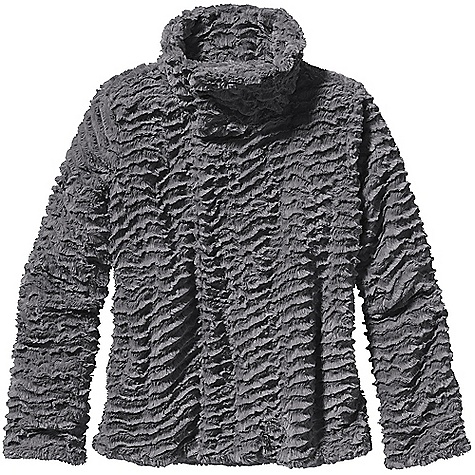 On Sale. Free Shipping. Patagonia Women's Pelage Jacket DECENT FEATURES of the Patagonia Women's Pelage Jacket Curly deep-pile fleece is soft and cozy Subtle swing-style jacket with asymmetrical front closure Double-fleece collar Hidden front zipper and snap closure On-seam hand warmer pockets Contrast lining on all colors Hip length The SPECS Regular fit 11.2-oz 100% polyester curly, deep-pile fleece Lining: 2.3-oz 100% recycled polyester ripstop with a Deluge DWR (durable water repellent) finish This product can only be shipped within the United States. Please don't hate us. - $88.99