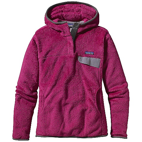 Free Shipping. Patagonia Women's Re-Tool Hoody DECENT FEATURES of the Patagonia Women's Re-Tool Hoody Deep-pile fleece with 51% recycled polyester has extra-long fibers for warmth retention Hood for extra warmth Hidden 4-snap closure on front placket is reinforced with Supplex nylon Yoke and princess seams add contouring and shaping brushed micro polyester fleece trim around hood opening, sleeve cuffs and hem Supplex nylon chest pocket flap with stay-put envelope construction Kangaroo hand warmer pocket Hip length The SPECS Slim fit Weight: 16.9 oz / 479 g 9-oz Polartec Thermal Pro 100% polyester fleece (51% recycled) This product can only be shipped within the United States. Please don't hate us. - $139.00