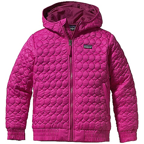 On Sale. Free Shipping. Patagonia Girl's Inoa Jacket DECENT FEATURES of the Patagonia Girls' Inoa Jacket Soft polyester shell is wind- and water-resistant, and treated with a Deluge DWR (durable water repellent) finish Lightweight and compressible 150-g high-loft polyester insulation is wind resistant and stays warm even when wet Rushed quilting gives a fresh look and style with minimal bulk Internal full-length wind flap with zipper garag Hood and collar construction provide protection against wind and cold Covered, zippered hand warmer pockets with reflective zipper pulls Sleeve cuffs and jacket hem have internal elastic to seal out cold Hip length Hand-me-down ID label inside The SPECS Regular fit Weight: 17.4 oz / 493 g Shell: 2.8-oz 100% polyester Lining: 2-oz 100% polyester plain weave Both with a Deluge DWR (durable water repellent) finish Insulation: 150-g 100% high-loft polyester This product can only be shipped within the United States. Please don't hate us. - $79.99