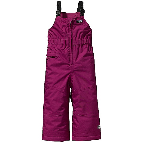 Free Shipping. Patagonia Baby Snow - Daze Bib DECENT FEATURES of the Patagonia Baby Snow-Daze Bib Waterproof and durable 2-layer polyester shell with fully-taped seams for a storm level protection Adjustable suspenders provide comfort and stay-put fit with minimal bulk Front zipper for easy on/off one zippered pocket Reflective zipper pulls Slight elasticized waist improves fit Internal leg gaiters keep snow out and have internal loops inside hem for tie-down cords in.Grow-fitin. feature adds 1 1/2in. to length for extended wear Hand-me-down ID label inside The SPECS Regular fit Weight: 12.5 oz / 354 g Shell: 2-layer 5.6-oz 100% polyester, with a waterproof/breathable H2No barrier and a Deluge DWR (durable water repellent) finish Lining: 2-oz 100% polyester plain weave Insulation: 100-g Thermo green 100% polyester (90% recycled) This product can only be shipped within the United States. Please don't hate us. - $99.00