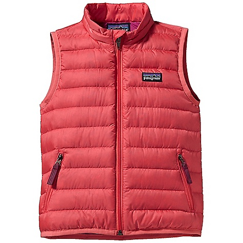 On Sale. Free Shipping. Patagonia Baby Down Sweater Vest DECENT FEATURES of the Patagonia Baby Down Sweater Vest Lightweight, wind-resistant shell fabric has high tear-strength and a Deluge DWR finish Lightweight, highly compressible 600-fill-power premium European goose down Full-length zipper with wind flap and zipper garage eliminates chin chafe Quilt-through construction for comfort Two zippered hand warmer pockets with reflective pulls Hand-me-down ID label The SPECS Relaxed fit Weight: 3.8 oz / 108 g Shell: 1.4-oz 20-denier 100% polyester mini-ripstop Lining: 2-oz 100% polyester plain weave. Both with a Deluge DWR finish Insulation: 600-fillpower premium European goose down This product can only be shipped within the United States. Please don't hate us. - $54.99