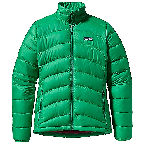 On Sale. Free Shipping. Patagonia Women's Hi-Loft Down Sweater DECENT FEATURES of the Patagonia Women's Hi-Loft Down Sweater Lightweight polyester shell fabric is treated with a Deluge DWR finish bigger channels with more 800-fill-power premium goose down than the regular down sweater Two zippered hand warmer pockets and one internal zip pocket for storage Draw cord hem seals out cold and spindrift Stuff sack included The SPECS Regular fit Weight: 11.8 oz / 335 g Shell and Lining: 1.4-oz 20-denier 100% polyester ripstop with a Deluge DWR (durable water repellent) finish Insulation: 800-fill-power premium European goose down This product can only be shipped within the United States. Please don't hate us. - $159.99