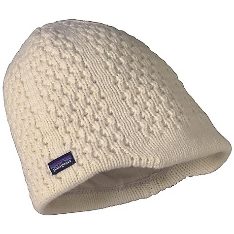 Entertainment Patagonia Vanilla Beanie DECENT FEATURES of the Patagonia Vanilla Beanie Soft wool/nylon blend keeps head and ears warm Fully lined with plush, lightweight fleece for additional insulation and moisture management A bit of a brim to shield eyes from falling snow Naturally stretchy knit for all-day comfort The SPECS 80% chlorine-free merino wool, 20% nylon Lining: 5.2-oz 100% polyester fleece Weight: 3.4 oz / 96 g This product can only be shipped within the United States. Please don't hate us. - $39.00