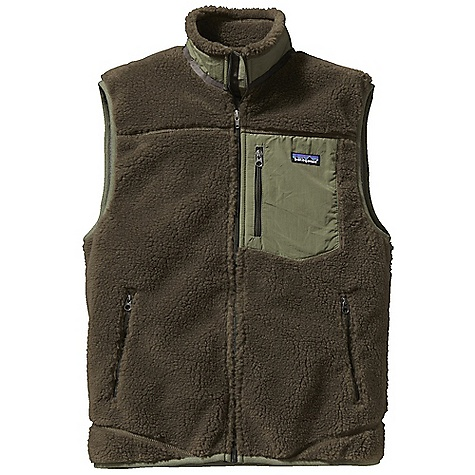 On Sale. Free Shipping. Patagonia Men's Classic Retro - X Vest FEATURES of the Patagonia Men's Classic Retro - X Vest Windproof membrane bonded between a recycled-polyester fleece exterior and moisture-wicking, brushed polyester-mesh interior Full-zip vest with internal wind flap Pockets: Vertical zippered chest pocket made of Supplex nylon zippered hand warmers lined with brushed polyester mesh Hip length - $106.99
