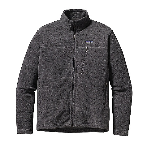Free Shipping. Patagonia Men's Simple Synchilla Jacket DECENT FEATURES of the Patagonia Men's Simple Synchilla Jacket Midweight, recycled, double-faced polyester fleece Full-zip jacket with fleece-lined chin flap and stand-up collar Zippered pockets: Two hand warmers and a chest pocket Hip length The SPECS Regular fit Weight: 15.6 oz / 442 g 7.5-oz 100% polyester (85% recycled) double-faced fleece This product can only be shipped within the United States. Please don't hate us. - $119.00
