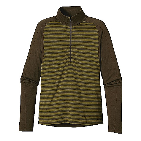 Free Shipping. Patagonia Men's Merino 3 MW Zip - Neck DECENT FEATURES of the Patagonia Men's Merino 3 Mw Zip - Neck Merino Wool/Polyester Blend Keeps You Dry and Comfortable Even When Wet, is Stronger and More Durable than 100% Wool, has a Softer Hand, Naturally Controls Odor, and Wicks Perspiration 18.9 Micron-Gauge Yarn and Jersey-Knit Construction Raglan Shoulder and Sleeve Detail Seams Are Offset to Prevent Chafing Under Layers and Packs Underarm Panels with Offset Seams Maximize Range Of Motion and Comfort Hidden Thumb Loop at Cuff for Extra Hand Protection Slow-Washed without Chlorine to Prevent Shrinkage, Bluesign Approved Machine-Wash Cold, Tumble Dry at Low Temperature The SPECS Slim fit Weight: 10.1 oz / 286 g 6.5 oz / 220 G 80% Chlorine-Free Merino Wool, 20% Polyester (100% Recycled) This product can only be shipped within the United States. Please don't hate us. - $99.00