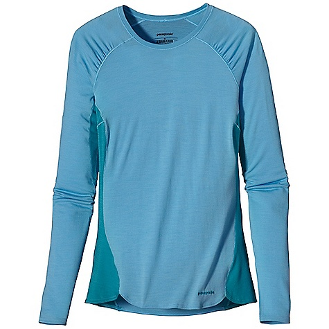 Free Shipping. Patagonia Women's Merino 2 LW Crew DECENT FEATURES of the Patagonia Women's Merino 2 Lw Crew Merino Wool/Polyester Blend Keeps You Dry and Comfortable Even When Wet, is Stronger and More Durable than 100% Wool, has a Softer Hand, Naturally Controls Odor, and Wicks Perspiration 18.9 Micron-Gauge Yarn and Jersey-Knit Construction Collar and Sleeve Seams Merge for Comfort Under Pack Straps Wide Cuff Bands Help Keep Sleeves In Place When Pulled Up Side Seams Offset to Eliminate Irritation Slow-Washed without Chlorine to Prevent Shrinkage Bluesign Approved Machine-Wash Cold, Tumble Dry at Low Temperature The SPECS Slim fit Weight: 6 oz / 170 g 4.9 oz / 165-g 80% Chlorine-Free Merino Wool, 20% Polyester (100% Recycled) This product can only be shipped within the United States. Please don't hate us. - $75.00