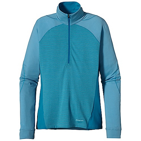 Free Shipping. Patagonia Women's Merino 3 MW Zip Neck Merino Wool/Polyester Blend Keeps You Dry and Comfortable Even When Wet, is Stronger and More Durable than 100% Wool, has a Softer Hand, Naturally Controls Odor, and Wicks Perspiration 18.9 Micron-Gauge Yarn and Jersey-Knit Construction Raglan Shoulder and Sleeve Detail Seams Are Offset to Prevent Chafing Under Layers and Packs Hidden Thumb Loop at Cuff for Extra Hand Protection Underarm Panels with Offset Seams Maximize Range Of Motion and Comfort Slow-Washed without Chlorine to Prevent Shrinkage Bluesign Approved Machine-Wash Cold, Tumble Dry at Low Temperature The SPECS Slim fit Weight: 9.5 oz / 269 g 6.5 oz / 220 G 80% Chlorine-Free Merino Wool, 20% Polyester (100% Recycled) This product can only be shipped within the United States. Please don't hate us. - $100.00