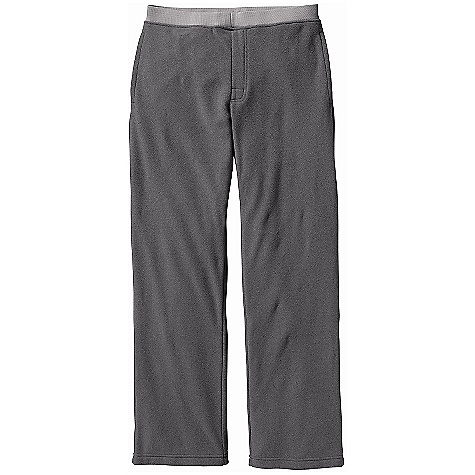 Free Shipping. Patagonia Men's Araveto Fleece Pant DECENT FEATURES of the Patagonia Men's Araveto Fleece Pants Soft, brushed double-sided polyester fleece Polyester rib-knit pull-on waistband has an adjustable drawstring and faux fly Pockets: Two on-seam handwarmers and one rear patch pocket Straight leg Regular fit The SPECS Weight: 14.1 oz / 400 g Fabric: 5.9-oz microdenier 100% polyester double-sided fleece Rib: 90% polyester/10% spandex This product can only be shipped within the United States. Please don't hate us. - $79.00