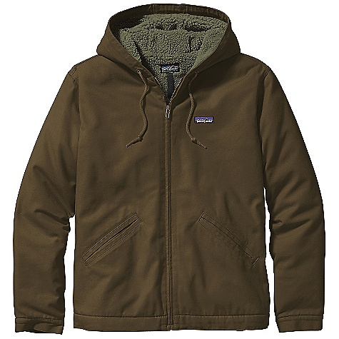 Free Shipping. Patagonia Men's Lined Canvas Hoody DECENT FEATURES of the Patagonia Men's Lined Canvas Hoody 10-oz cotton canvas with cozy 1/4in.-pile polyester fleece lining in the body and 100-g Thermogreen insulation in sleeves Sleeves are also lined with recycled polyester taffeta for easy on/off Zippered Pockets: Two welted drop-in handwarmers lined with brushed tricot and internal left chest pocket Hood has an adjustable drawcord Drop-tail hem Self-fabric cuffs Triple-needle stitching Hip length The SPECS Regular fit Weight: 44.4 oz / 1258 g 10-oz 100% organic cotton canvas Lining: Body: 7.5-oz 100% polyester (70% recycled) 1/4in.-pile fleece Sleeve: 2.3-oz 100% recycled polyester taffeta Sleeve Insulation: 100-g Thermogreen 100% polyester (90% recycled) This product can only be shipped within the United States. Please don't hate us. - $149.00