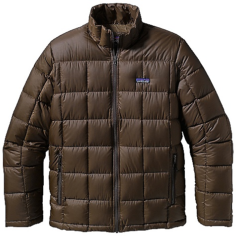 Free Shipping. Patagonia Men's Caulder Down Jacket DECENT FEATURES of the Patagonia Men's Caulder Down Jacket Durable, Yet Lightweight Recycled Polyester Ripstop Shell Fabric Insulated with 600-Fill-Power Premium European Goose Down Down Jacket with Stand-Up Collar Box Quilting Keeps Down From Shifting and Maintains Warmth Pockets: Two Zippered Side-Entry Handwarmers Lined with Micro-Polyester Brushed Jersey One Zippered Interior Left-Chest is Made of Stretch Mesh and Doubles As a Stuff Sack with Carabiner Clip-In Loop Straight Hem Hip Length The SPECS Regular fit Weight: 18.8 oz / 533 g 1.5 oz 100% Recycled Polyester Ripstop Insulation: 600-Fill-Power Premium European Goose Down This product can only be shipped within the United States. Please don't hate us. - $229.00