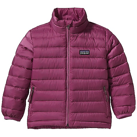 On Sale. Free Shipping. Patagonia Baby Down Sweater DECENT FEATURES of the Patagonia Baby Down Sweater Lightweight, wind-resistant shell fabric has high tear-strength and a Deluge DWR finish Lightweight, highly compressible 600-fill-power premium European goose down Back elastic secures the fit Quilt-through construction for comfort Two zippered hand warmer pockets with reflective pulls Hand-me-down ID label Easy to layer The SPECS Relaxed fit Weight: 5.6 oz / 159 g Shell: 1.4-oz 20-denier 100% polyester mini-ripstop Lining: 2-oz 100% polyester plain weave. Both with a Deluge DWR finish Insulation: 600-fill-power premium European goose down This product can only be shipped within the United States. Please don't hate us. - $61.99