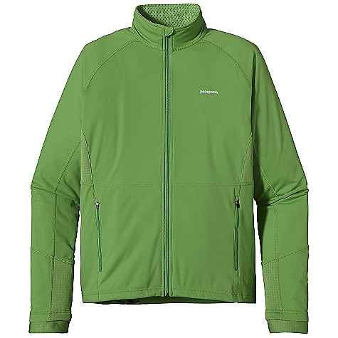 On Sale. Free Shipping. Patagonia Men's Wind Shield Jacket DECENT FEATURES of the Patagonia Men's Wind Shield Jacket Stretchy and comfortable 3-layer circular knit polyester provides full protection from wind Lightweight fabric is durable and extremely packable R1 high/low fleece grid at underarm panels and cuffs breathes and dries fast Zip-through collar with brushed fleece for next-to-skin comfort full wind flap Two zippered hand warmer pockets Center-back pocket with interior cord pass-through Reflective logos at left chest and center-back neck Back pocket features reflective zipper Slight drop-tail hem with single-pull draw cord The SPECS Slim fit Weight: 9.9 oz / 280 g Body: 3-layer, 3.5-oz 20-denier 100% polyester laminated to a polyurethane film with a Deluge DWR (durable water repellent) finish Underarm Panels and Cuff Trim: R16.8-oz Polartec Power Dry 93% polyester (41% recycled), 7% spandex This product can only be shipped within the United States. Please don't hate us. - $103.99
