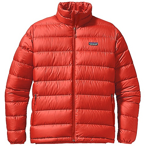 Free Shipping. Patagonia Men's Hi-Loft Down Sweater DECENT FEATURES of the Patagonia Men's Hi-Loft Down Sweater Lightweight polyester shell with a Deluge DWR finish bigger channels and more 800-fill-power premium goose down than regular down sweater Two zippered hand warmer pockets and one internal zippered security pocket Draw cord hem seals in warm air and keeps out cold and spindrift Stuff sack included The SPECS Regular fit Weight: 13 oz / 369 g Shell and Lining: 1.4-oz 20-denier 100% polyester ripstop with a Deluge DWR (durable water repellent) finish Insulation: 800-fill-power premium European goose down This product can only be shipped within the United States. Please don't hate us. - $229.00