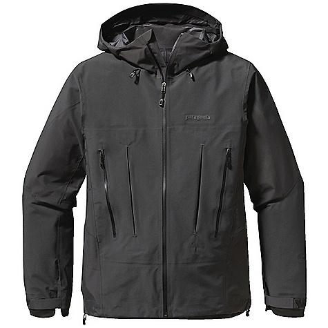 Free Shipping. Patagonia Men's Super Alpine Jacket DECENT FEATURES of the Patagonia Men's Super Alpine Jacket New Gore-Tex Pro fabric delivers the same trusted levels of uncompromised, durable waterproofness, but with an even better range of breathability Helmet-compatible Optimal Visibility Hood with laminated visor for good visibility in poor conditions Touch Point System with embedded cord locks in hood and hem for quick-and-easy adjustment Gusseted underarm panels let you reach without raising the body of the jacket Harness-and pack-compatible Pressed Pleat Pockets increase capacity without adding seams Supple, watertight Slim Zips are laminated in place to reduce bulk Pleated Gasket Dry Cuffs provide a tight, low-profile wrist seal The SPECS Regular fit Weight: 18.2 oz / 516 g 3-layer, 3.8 oz, 40-denier 100% nylon Gore-Tex Pro fabric Reinforcement: 3-layer, 4.9 oz, 150-denier 100% nylon Gore-Tex Pro fabric Shell and reinforcements have a DWR (durable water repellent) finish This product can only be shipped within the United States. Please don't hate us. - $599.00