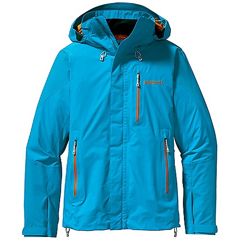 Free Shipping. Patagonia Women's Piolet Jacket DECENT FEATURES of the Patagonia Women's Piolet Jacket 2-layer nylon durably waterproof/breathable and windproof Gore-Tex fabric Helmet-compatible Optimal Visibility Hood with laminated visor provides good visibility in poor conditions Touch Point System with embedded cord locks in hood and hem for quick-and-easy adjustment Gusseted underarm panels let you reach without raising the body of the jacket Harness-and pack-compatible pockets and pit zips feature supple, watertight-coated Slim Zips that reduce bulk and weight; internal zipper pocket Low-profile gusset cuffs provide a tight wrist seal The SPECS Regular fit Weight: 20.6 oz / 584 g 2-layer, 2.7-oz 40-denier 100% nylon Gore-Tex fabric Reinforcement: 2-layer, 4.3-oz 70-denier 100% nylon Gore-Tex fabric Shell and reinforcements have a DWR (durable water repellent) finish This product can only be shipped within the United States. Please don't hate us. - $299.00