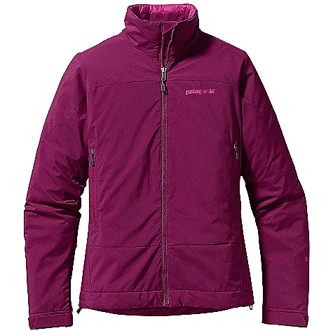 On Sale. Free Shipping. Patagonia Women's Solar Wind Jacket DECENT FEATURES of the Patagonia Women's Solar Wind Jacket Windstopper Insulated Shell fabric combined with warm, lightweight PrimaLoft Eco insulation is compressible and highly weather-resistant Interior quilting stabilizes insulation Pockets: Harness - and pack-compatible chest pocket with reverse-coil zippers Internal zippered security pocket Touch Point System with embedded cord locks in hood and hem for quick-and-easy adjustment Low-profile, pleated Gasket Dry Cuffs provide a tight wrist seal The SPECS Regular fit Weight: 15.9 oz / 450 g Shell: 2.8-oz Gore Windstopper 100% nylon Insulation: 60-g PrimaLoft Eco 100% polyester (70% recycled) Lining: 1.4-oz 20-denier 100% polyester ripstop This product can only be shipped within the United States. Please don't hate us. - $135.99