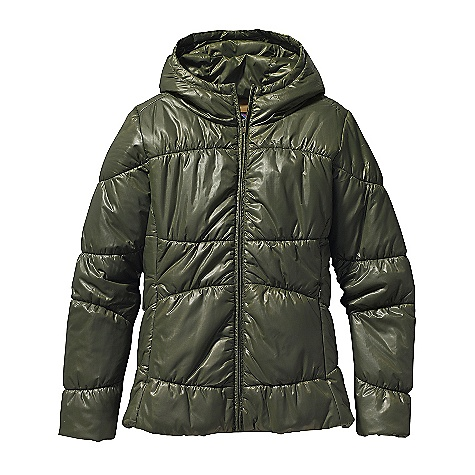 On Sale. Free Shipping. Patagonia Women's Lidia Jacket DECENT FEATURES of the Patagonia Women's Lidia Jacket 100% recycled polyester double ripstop shell with warm, lightweight 150-g Thermogreen insulation in body and 100-g in sleeves Hood for warmth On-seam, zippered handwarmer pockets Internal zippered pocket Elegant shirred quilting is elasticized for a flattering fit Princess seaming on front and back for a contoured, feminine fit Contrast lining on all colors Hip length The SPECS Slim fit Weight: 17.6 oz / 498 g Shell: 1.2-oz 100% recycled polyester double ripstop with a Deluge DWR (durable water repellent) finish Lining: 2-oz 100% polyester plain weave Insulation: 150-g (100-g in sleeves) Thermogreen 100% polyester (90% recycled) This product can only be shipped within the United States. Please don't hate us. - $97.99