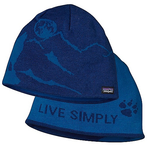 Entertainment The Patagonia Flippin' Beanie. This reversible nylon and wool beanie, with unique graphics inside and out, is a perfect Fit for your ever-changing moodFeatures of the Patagonia Flippin' Beanie Warm and comfortable, stretchy nylon/chlorine-free merino wool Reversible design Provides extra warmth for the coldest conditions Fun patterns - $24.99