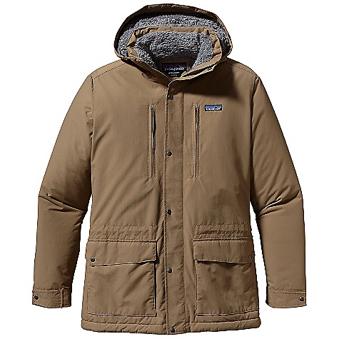 Free Shipping. Patagonia Men's Isthmus Parka DECENT FEATURES of the Patagonia Men's Isthmus Parka Versatile wind- and weather-resistant DWR-treated nylon shell is lined with warm high-pile fleece 2-way zipper with wind flap and snaps fully adjustable and removable hood Pockets: Two zippered, welted chest pockets and internal zippered left chest all lined with brushed tricot two flap pockets with snaps on lower torso have side-entry hand warmers lined with brushed tricot Adjustable cuffs with snaps elasticized, adjustable draw cord at waist Lower hip length The SPECS Regular fit Weight: 34.7 oz / 984 g 4.2-oz 100% nylon faille with a DWR finish Lining: 8.6-oz 100% polyester deep-pile fleece This product can only be shipped within the United States. Please don't hate us. - $229.00