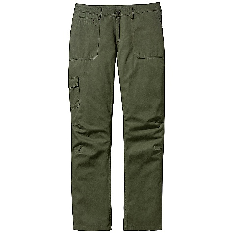 Free Shipping. Patagonia Women's Desert Twill Pant DECENT FEATURES of the Patagonia Women's Desert Twill Pants Organic Cotton Twill is Soft Yet Durable Waistband with Belt Loops, Zip Fly and Button Closure Front Patch Pockets with Extra Coin Pocket Rear Patched-On Pockets and Cargo Pocket on Right Leg Articulation At Knees for Mobility Back Yoke for Shaping Low Rise Straight Leg The SPECS Slim fit Inseam: 32in. Weight: 11.5 oz / 326 g 5.6 oz 100% Organic Cotton Twill This product can only be shipped within the United States. Please don't hate us. - $69.00