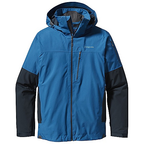 On Sale. Free Shipping. Patagonia Men's Powder Bowl Jacket DECENT FEATURES of the Patagonia Men's Powder Bowl Jacket Durable 2-layer polyester Gore-Tex fabric keeps you dry during a heavy snowstorm Mesh lining wicks away moisture Removable, helmet-compatible, 2-way-adjustable hood with laminated visor provides optimal visibility in bad conditions Tall collar protects neck and face, even with the hood down Touch Point System embeds cord locks in the hood and hem for quick adjustment and seals out snow (US patent number 5263202) Slim Zip installation with watertight coated zippers for reduced bulk and weight Pit zips quickly release heat Pleated gusset comfortably secures cuff, over or under gloves, with less bulk Powder skirt is adjustable and fully featured Webbing loops connect to any Patagonia Snow pants to keep the snow out and the skirt down Pockets: Two handwarmers, one chest, one bicep, two interior drop-ins and one interior zippered pocket with key clip Includes secure media pocket with cable routing The SPECS 2-layer, 4.6-oz 150-denier 100% polyester Gore-Tex fabric with a DWR (durable water repellent) finish Lining: Torso: 100% brushed polyester mesh Sleeves: 100% polyester mesh Powder skirt and hood: 2-oz 100% polyester plain weave Weight: 36 oz / 1020 g This product can only be shipped within the United States. Please don't hate us. - $278.99