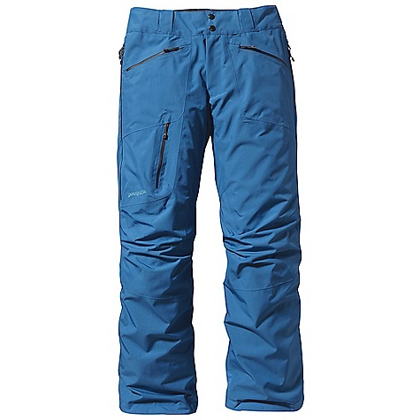 On Sale. Free Shipping. Patagonia Men's Powder Bowl Pant DECENT FEATURES of the Patagonia Men's Powder Bowl Pant Durable 2-layer polyester Gore-Tex fabric keeps you dry during a heavy snowstorm A combination of a brushed and slick mesh lining keeps you warm and wicks away moisture Waist details: Soft, brushed tricot lining wicks moisture Adjustable elastic tabs customize the fit Two-snap closure and zip fly Loops on rear yoke attach pant to powder skirt on any Patagonia Snow jacket to keep snow out Slim Zip installation with watertight coated zippers for reduced bulk and weight Gusseted crotch and articulated knees improve mobility and reduce bulk External thigh vents quickly release heat Gaiters keep the snow out, while tough scuff guards protect the inside of the leg and bottom hem Zippered pockets: Two handwarmers, one back hip and one right thigh The SPECS 2-layer, 4.3-oz 150-denier 100% polyester Gore-Tex fabric with a DWR (durable water repellent) finish Lining: Seat and Upper Thighs: 100% brushed polyester mesh Legs: 100% polyester mesh Weight: 28.8 oz / 816 g Regular fit This product can only be shipped within the United States. Please don't hate us. - $193.99