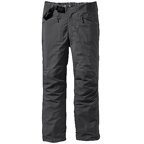 Ski On Sale. Free Shipping. Patagonia Men's Triolet Pant DECENT FEATURES of the Patagonia Men's Triolet Pant 3-layer durably waterproof/breathable nylon and windproof Gore-Tex fabric Partially elasticized separating waist with watertight, 2-way Slim Zip fly and built-in adjustable belt with separating buckle Two hand warmer pockets feature supple, watertight-coated Slim Zips that reduce bulk and weight Full-length watertight-coated side zips for easy on/off snap closures at ankle and waist Articulated seat and knees for full mobility Ski-boot compatible cuffs have scuff guards, elasticized internal mini gaiters, adjustable snap closure and tie-down loops The SPECS Regular fit Weight: 22.4 oz / 635 g 3-layer, 4.2 oz, 40-denier 100% nylon Gore-Tex fabric Reinforcement: 3-layer, 5.5 oz, 70-denier 100% nylon Gore-Tex fabric Shell and reinforcements have a DWR (durable water repellent) finish This product can only be shipped within the United States. Please don't hate us. - $278.99