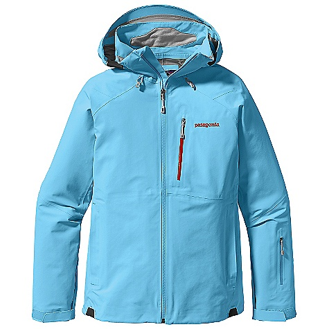 On Sale. Free Shipping. Patagonia Women's Primo Jacket DECENT FEATURES of the Patagonia Women's Primo Jacket Tough 3-layer recycled nylon Gore-Tex fabric protects against cold and wet snow Helmet-compatible, 2-way-adjustable hood with laminated visor provides optimal visibility in bad conditions Tall collar protects neck and face, even with the hood down Touch Point System embeds cord locks in the hood and hem for quick adjustment and seals out snow (US patent number 5263202) Slim Zip installation with watertight-coated zippers reduce bulk and weight Pit zips quickly release heat Pleated gusset comfortably secures cuff over or under gloves with less bulk Fully-featured powder skirt is adjustable Webbing loops connect to any Patagonia Snow pants to keep snow out and skirt down Zippered Pockets: Two handwarmers, one chest, one forearm, two interior drop-in pockets, one interior zippered pocket with key clip Includes secure media pocket with cable routing The SPECS 3-layer, 5.6-oz 70-denier 100% recycled nylon Gore-Tex fabric with a DWR (durable water repellent) finish Powder Skirt: 2-oz 100% polyester plain weave Weight: 24.5 oz / 694 g This product can only be shipped within the United States. Please don't hate us. - $273.99