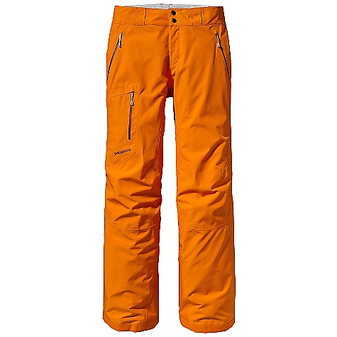 Snowboard On Sale. Free Shipping. Patagonia Women's Powder Bowl Pant DECENT FEATURES of the Patagonia Women's Powder Bowl Pant Durable 2-layer polyester Gore-Tex fabric for durably waterproof/breathable and windproof protection brushed and slick mesh lining keeps you warm and wicks away moisture Waist details: combination of slick taffeta and a self-fabric lining repels and wicks away moisture adjustable elastic tabs customize fit two snap closure and zip fly Loop on rear yoke attaches pant to powder skirt on any Patagonia Snow jacket Slim Zip installation with watertight coated zippers reduce bulk and weight Zippered pockets: two hand warmers one back one right thigh Gusseted crotch and articulated knees for mobility external mesh-lined thigh vents quickly release heat and keep snow out Gaiters with a DWR finish seal out snow tough scuff guards protect inside of leg and bottom hem RECCO avalanche rescue reflector embedded at lower right leg The SPECS Regular fit Weight: 24.9 oz / 706 g 2-layer, 4.3-oz 150-denier 100% polyester Gore-Tex fabric with a DWR (durable water repellent) finish Lining: Seat and upper thighs: 100% brushed polyester mesh Legs: 100% polyester mesh Gaiters: 2.3-oz 100% polyester with a DWR finish This product can only be shipped within the United States. Please don't hate us. - $223.99