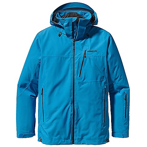 Snowboard On Sale. Free Shipping. Patagonia Men's Insulated Powder Bowl Jacket DECENT FEATURES of the Patagonia Men's Insulated Powder Bowl Jacket Durable 2-layer polyester Gore-Tex fabric for durably waterproof/breathable and windproof protection strategically placed combination of 100-g and 60-g Thermo green insulation stays warm even when wet Removable, helmet-compatible, 2-way-adjustable hood with laminated visor for optimal visibility in bad conditions tall collar protects neck and face even with hood down Slim Zip installation with watertight coated zippers reduce bulk and weight Pit zips quickly release heat low-profile cuff with pleated gusset secures over or under gloves Fully featured, adjustable powder skirt with webbing loop connects to any Patagonia Snow pants Zippered pockets: two hand warmers one chest with secure media pocket with cable routing one pass on left forearm one interior drop-in and one interior stash RECCO avalanche rescue reflector embedded in back of neck The SPECS Relaxed fit Weight: 40.1 oz / 1137 g 2-layer, 4.3-oz 150-denier 100% polyester Gore-Tex fabric with a DWR (durable water repellent) finish Powder Skirt: 3.5-oz 91% eco polyester and 9% spandex Lining: 2-oz 100% polyester plain weave Insulation: 100-g and 60-g Thermo green 100% polyester (90% recycled) This product can only be shipped within the United States. Please don't hate us. - $286.99